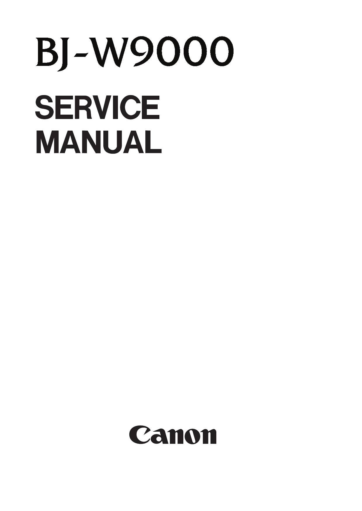 Canon Wide-Format-BubbleJet BJ-W9000 Parts and Service Manual-1